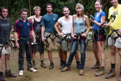 Zip lining in Laos
