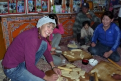 Cooking with locals in Mongolia
