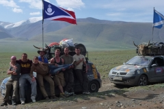 Hitchhiking with participants of the Mongol Rally