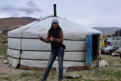 Helped setting up a ger in Mongolia